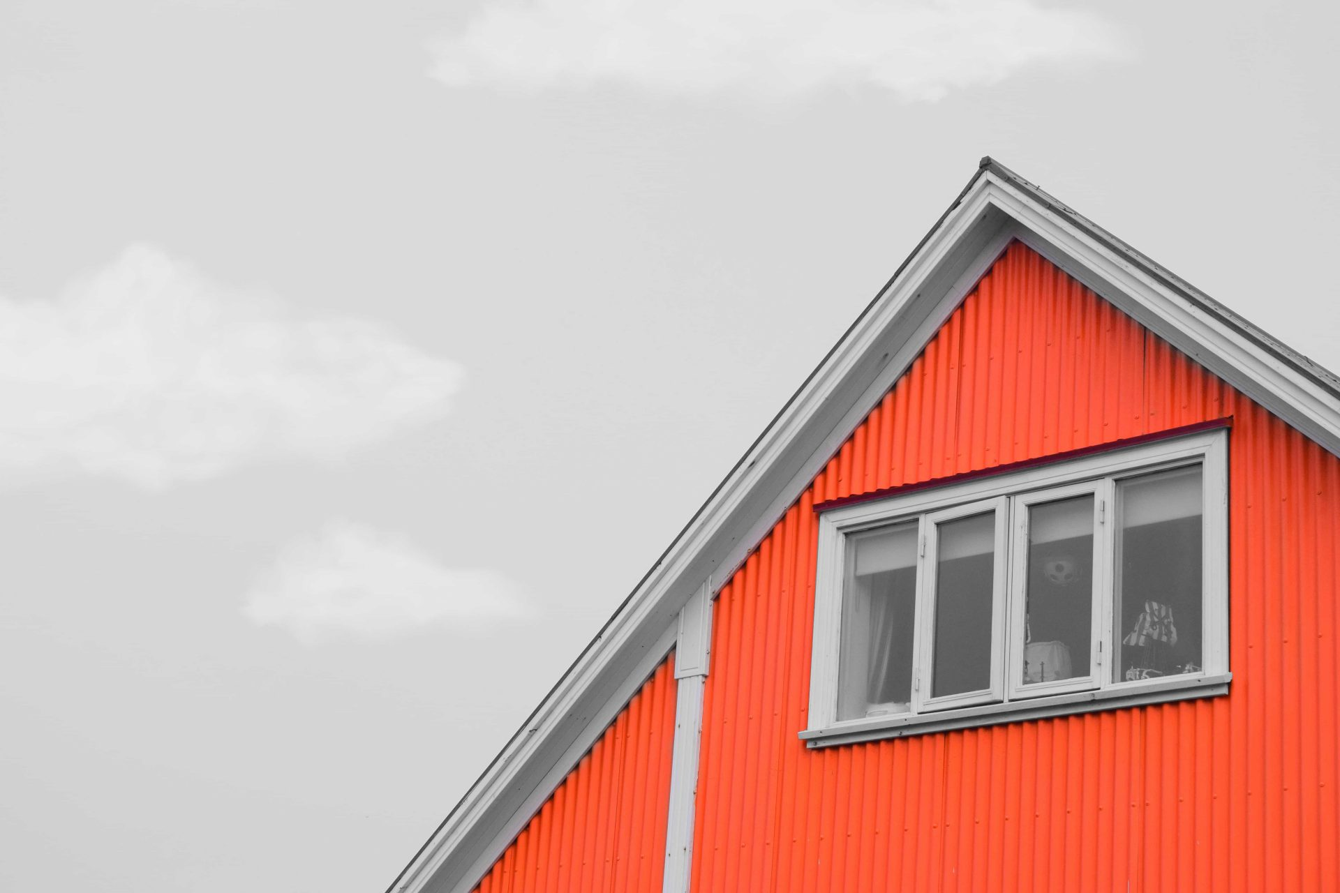 Red house gable end